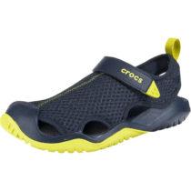 CROCS Swiftwater Mesh Deck Sandal M Nvy/Cit Komfort-Sandalen dunkelblau Herren Gr. 43/44