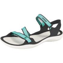 CROCS Swiftwater Webbing Sandal W Pool/Whi Komfort-Sandalen türkis/weiß Damen Gr. 41/42