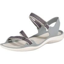 CROCS Swiftwater Webbing Sandal W Smo/Oys Komfort-Sandalen hellgrau Damen Gr. 41/42