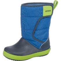CROCS Winterstiefel LodgePoint Snowboot für Jungen, gefüttert blau Junge Gr. 22/23