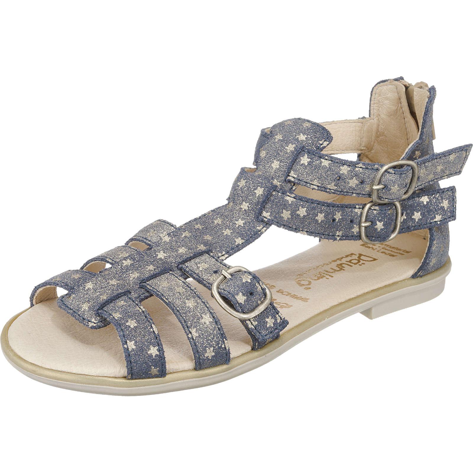 Däumling Sandalen für Mädchen, Weite S für schmale Füße blau Mädchen Gr. 31
