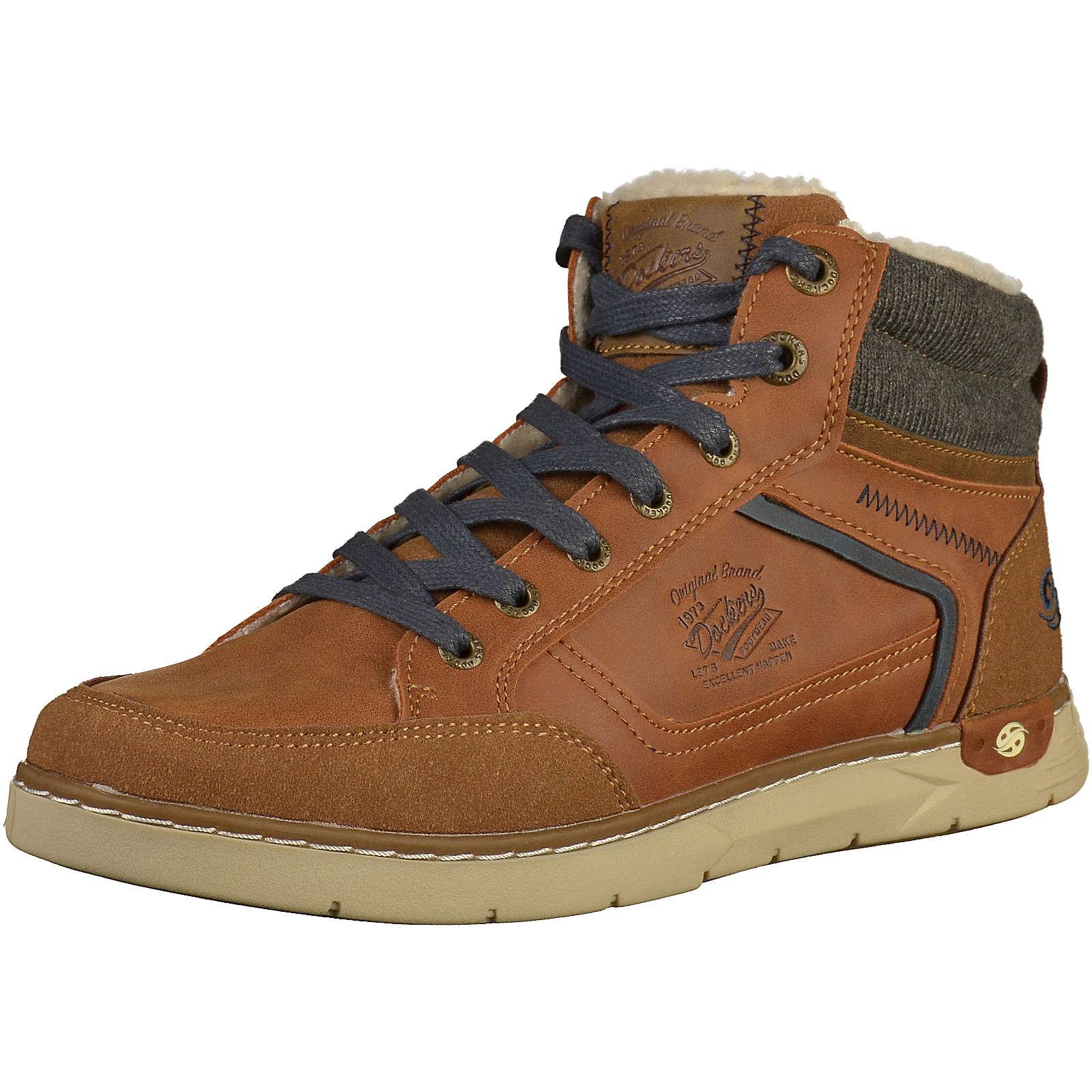 Dockers by Gerli Sneaker Sneakers High cognac Herren Gr. 46