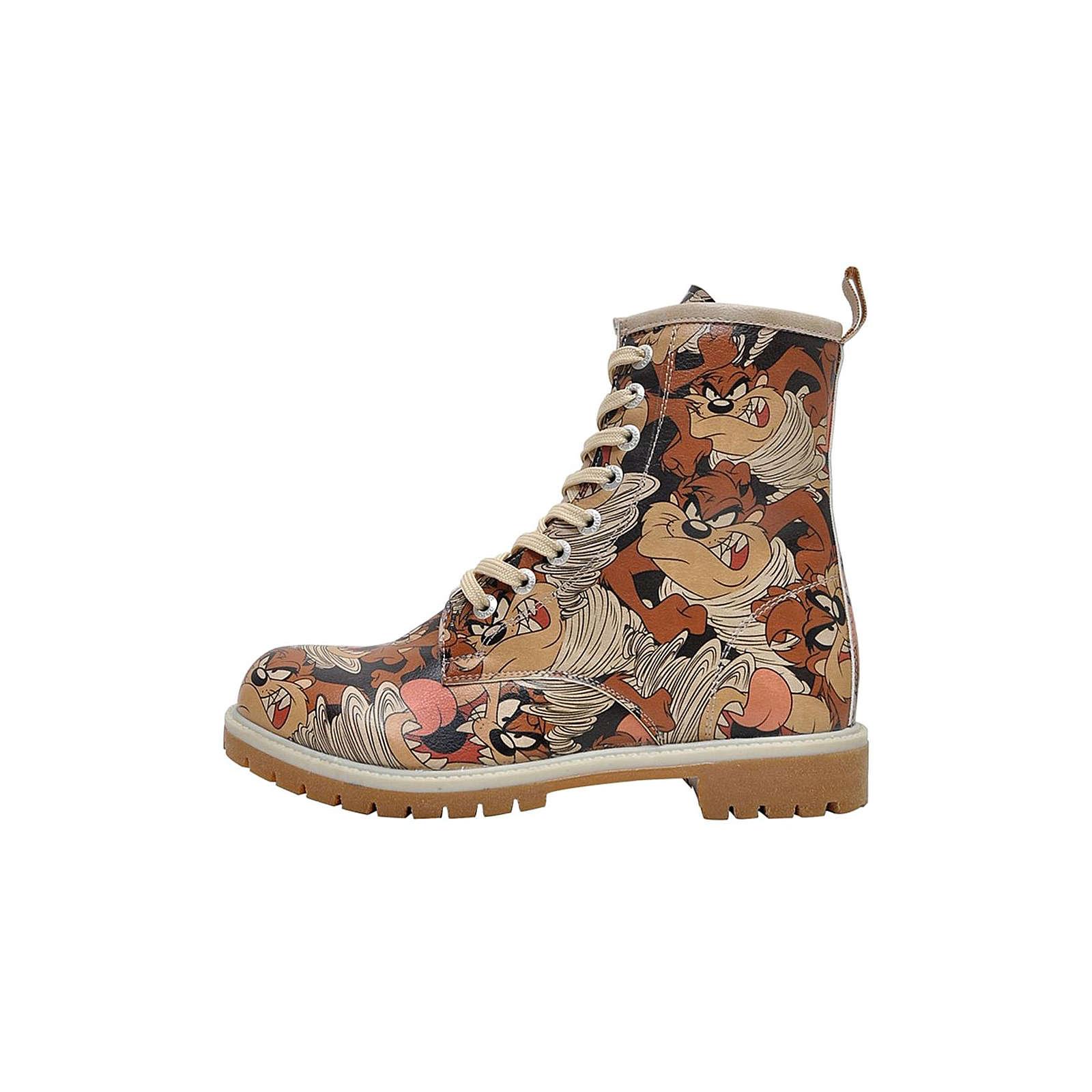 Dogo Shoes Boots Taz in Taz Schnürstiefeletten schwarz Damen Gr. 37