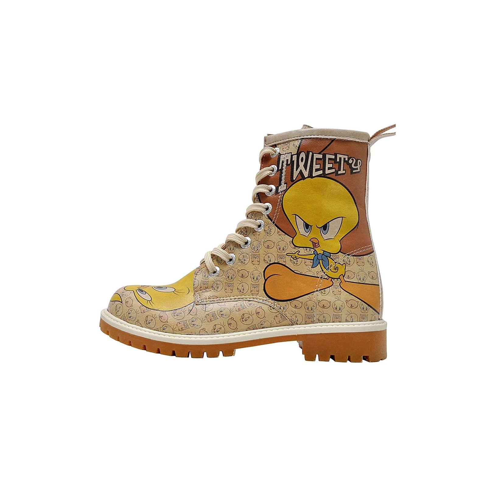 Dogo Shoes Boots Tweety Moods Schnürstiefeletten natur Damen Gr. 38