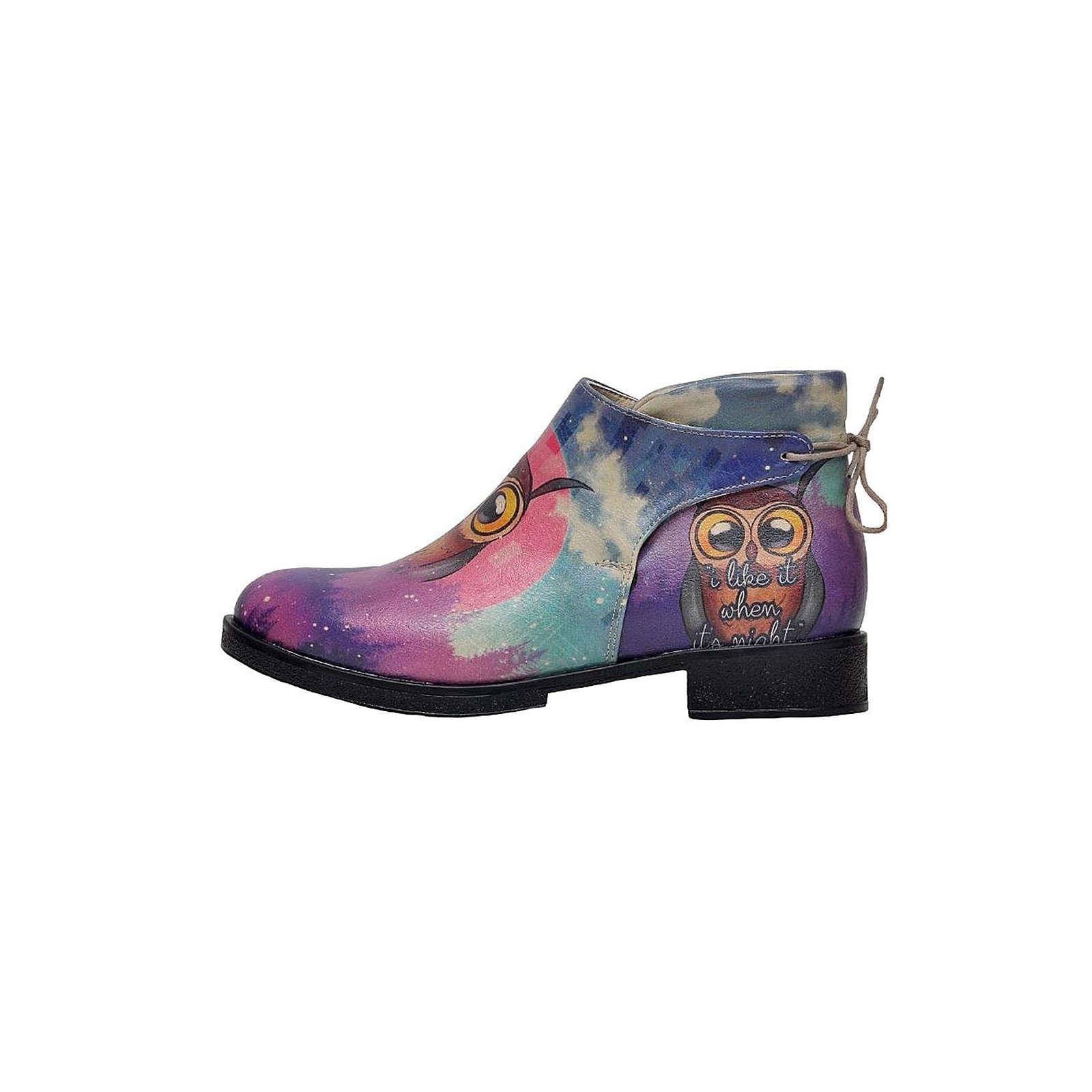 Dogo Shoes Chelsy I like it when it´s night Klassische Stiefeletten lila Damen Gr. 36