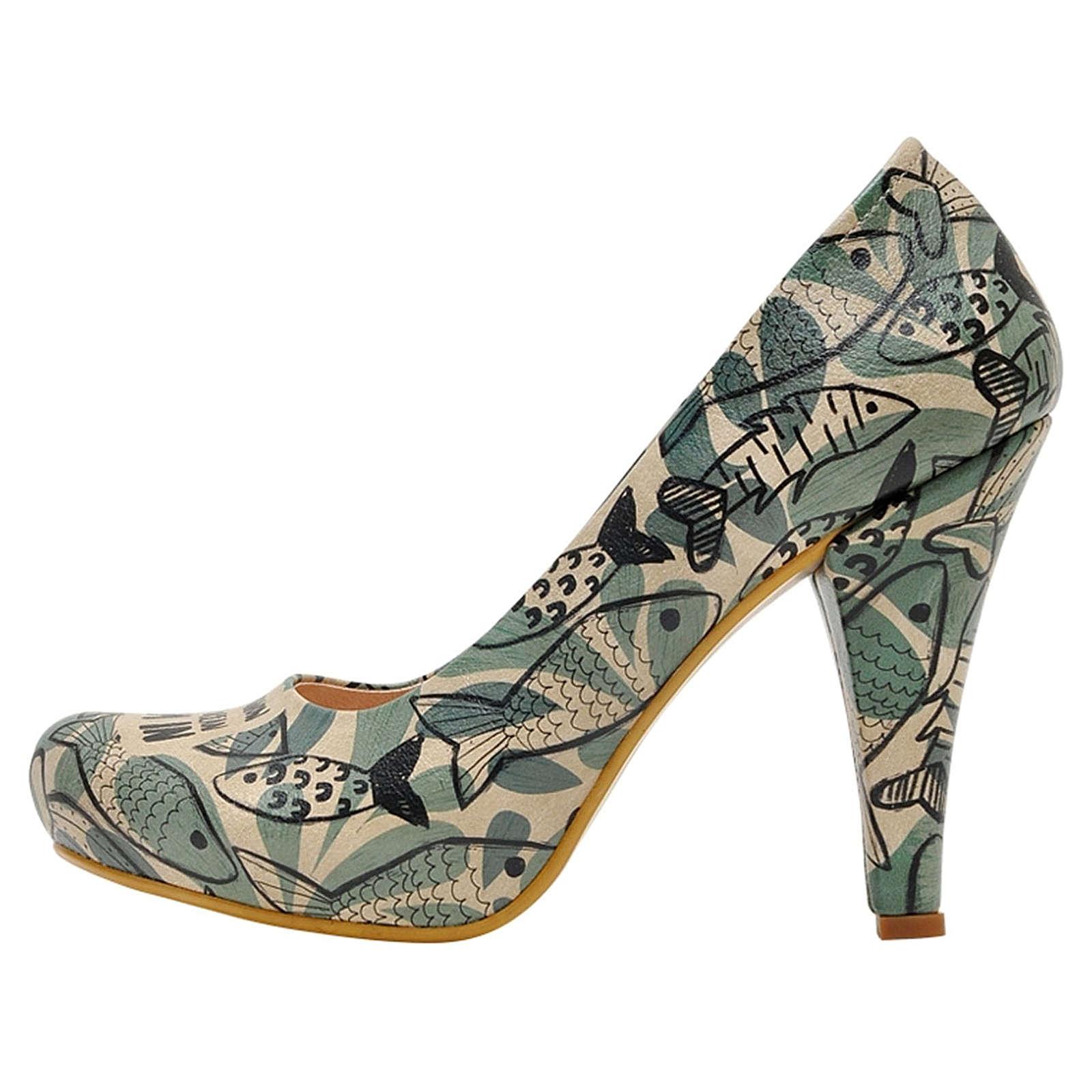 Dogo Shoes High-Heels Ocean Klassische Pumps mehrfarbig Damen Gr. 36