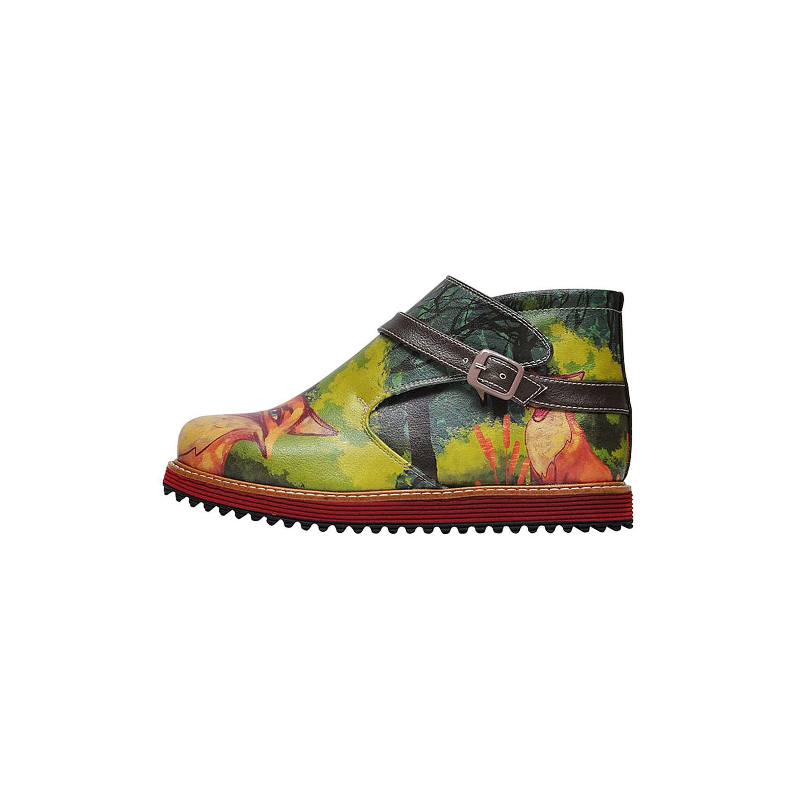 Dogo Shoes Kim Fox Klassische Stiefeletten grün Damen Gr. 38