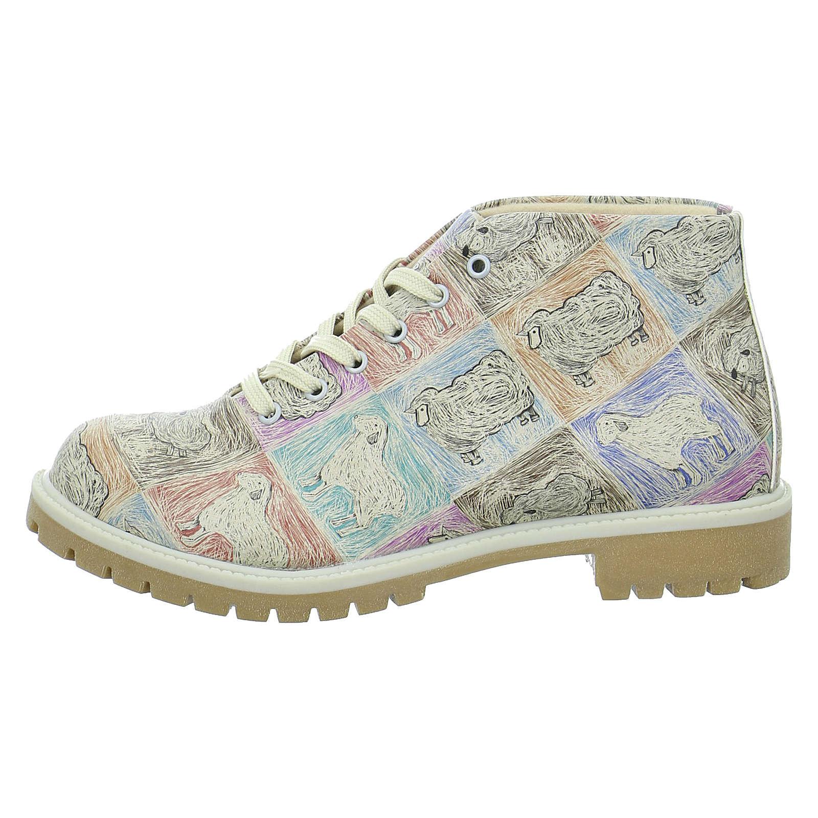 Dogo Shoes Schnürstiefeletten mehrfarbig Damen Gr. 39