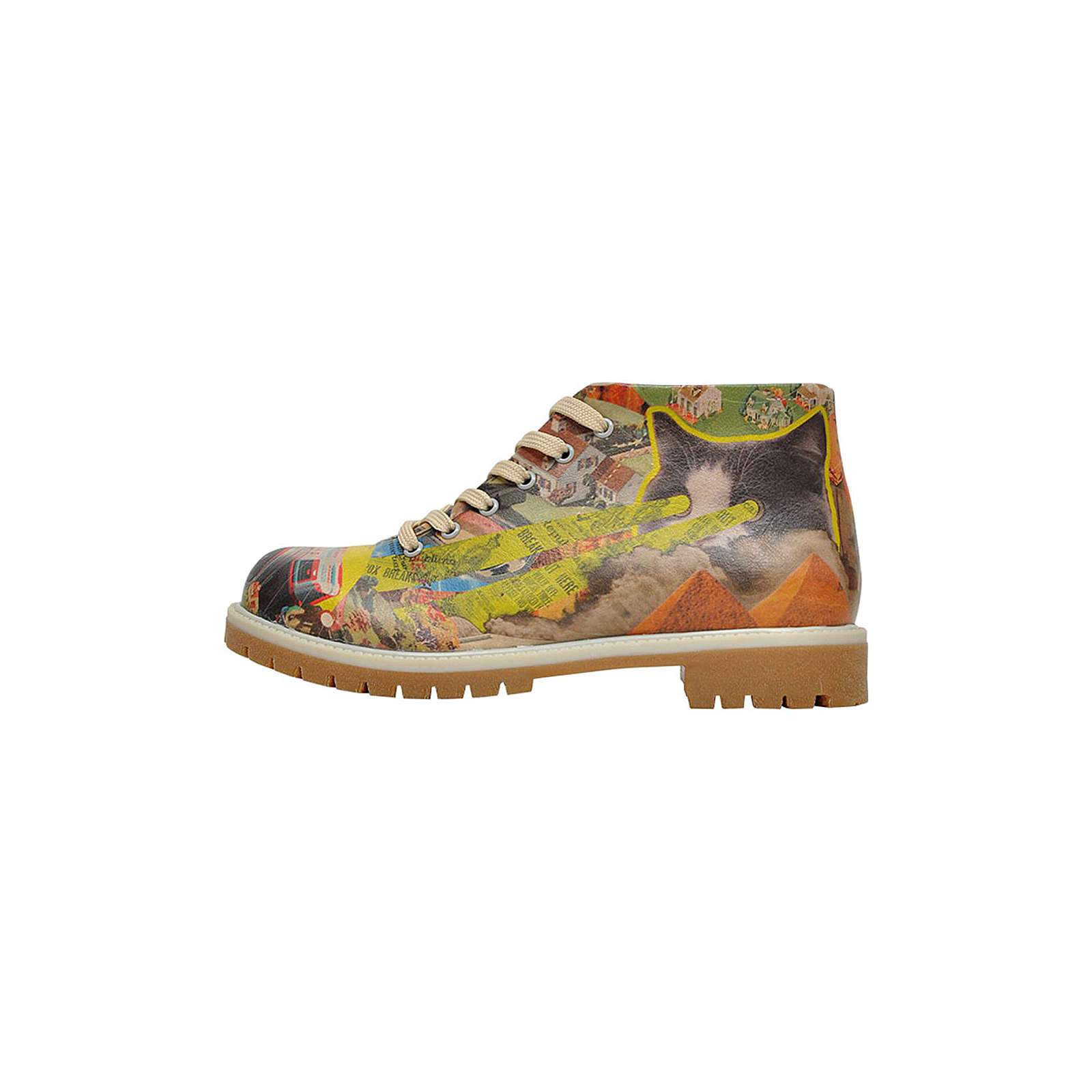 Dogo Shoes Short Boots Collage Schnürschuhe mehrfarbig Damen Gr. 38