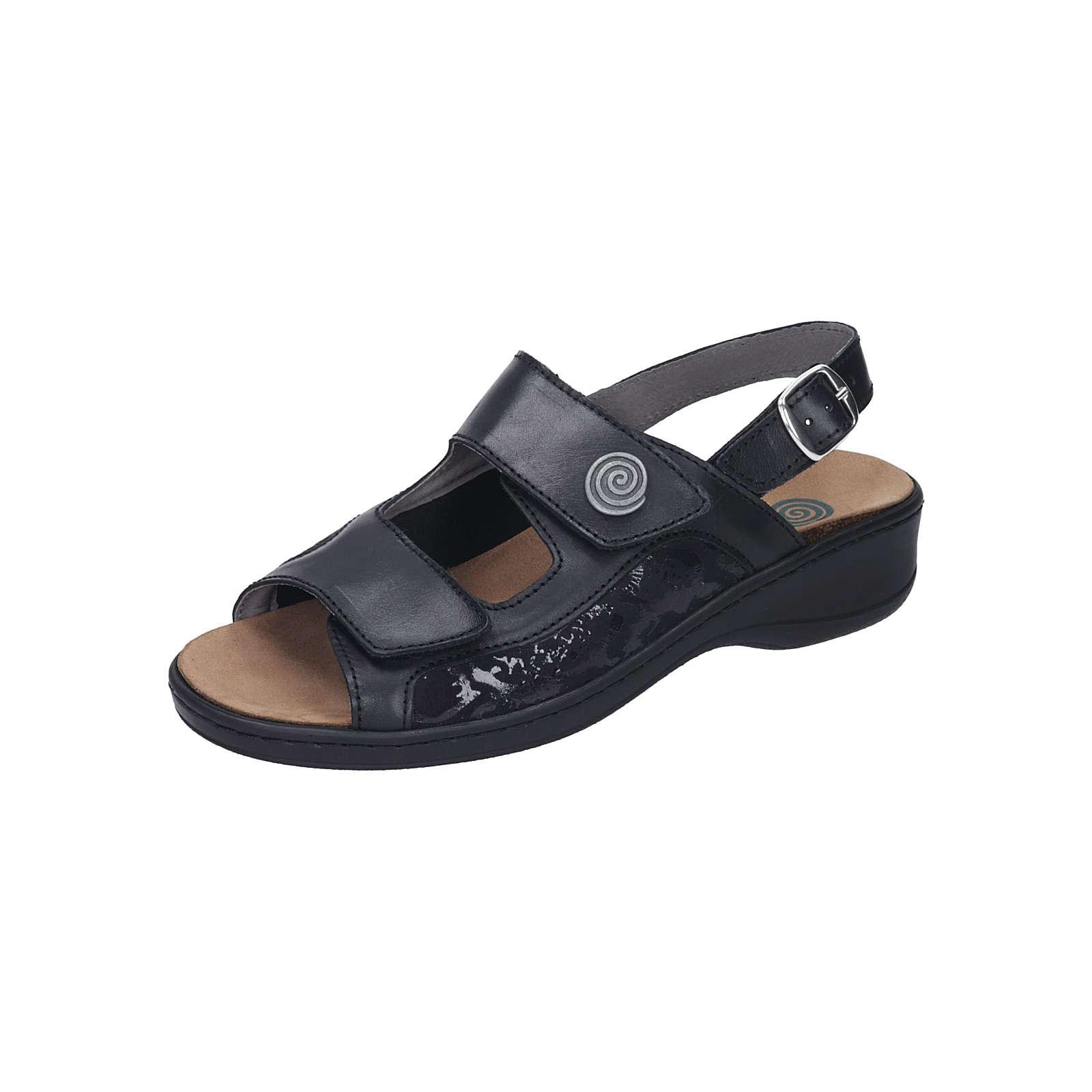 Dr. BRINKMANN Damen Sandale Komfort-Sandalen schwarz Damen Gr. 35