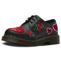 Dr. Martens 3 Eye Shoe 1461 HEARTS SoftyT schwarz Damen Gr. 37