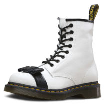 Dr. Martens 8 Eye Boot 1460 Crackle weiß-kombi Damen Gr. 40