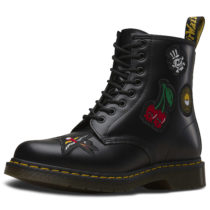 Dr. Martens 8 Eye Boot 1460 Patch Smooth schwarz Gr. 36