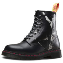 Dr. Martens 8 Eye Boot 1460 Sex Pistols Backhand Straw Grain schwarz Gr. 40