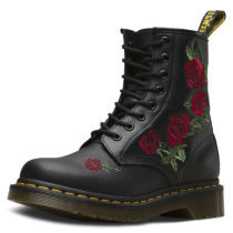 Dr. Martens 8 Eye Boot 1460 VONDA Embroidery schwarz Damen Gr. 42