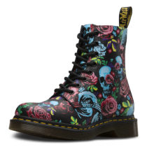 Dr. Martens 8 Eye Boot PASCAL ROSE Backhand schwarz-kombi Damen Gr. 39