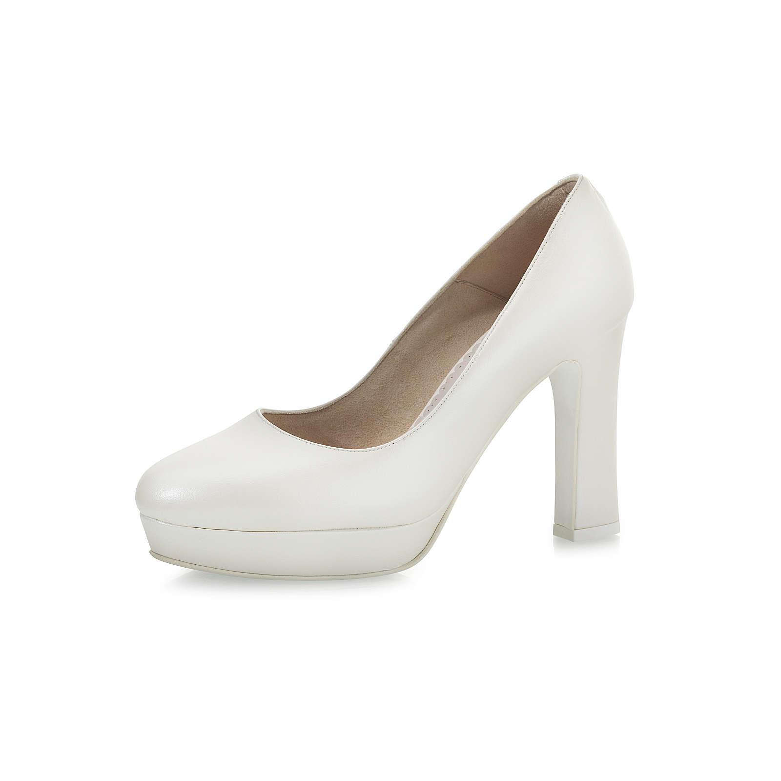 Elsa Coloured Shoes Fiarucci Brautschuhe Desario Plateau-Pumps creme Damen Gr. 40,5