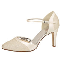 Elsa Coloured Shoes Rainbow Club Brautschuhe Caroline Spangenpumps creme Damen Gr. 38,5