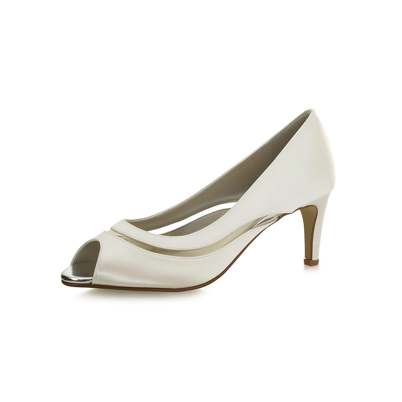 Elsa Coloured Shoes Rainbow Club Brautschuhe Cressida Peeptoe-Pumps creme Damen Gr. 40,5