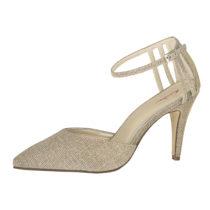 Elsa Coloured Shoes Rainbow Club Brautschuhe Kennedy Spangenpumps gold-kombi Damen Gr. 36