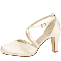 Elsa Coloured Shoes Rainbow Club Brautschuhe Olaila Spangenpumps creme Damen Gr. 40,5