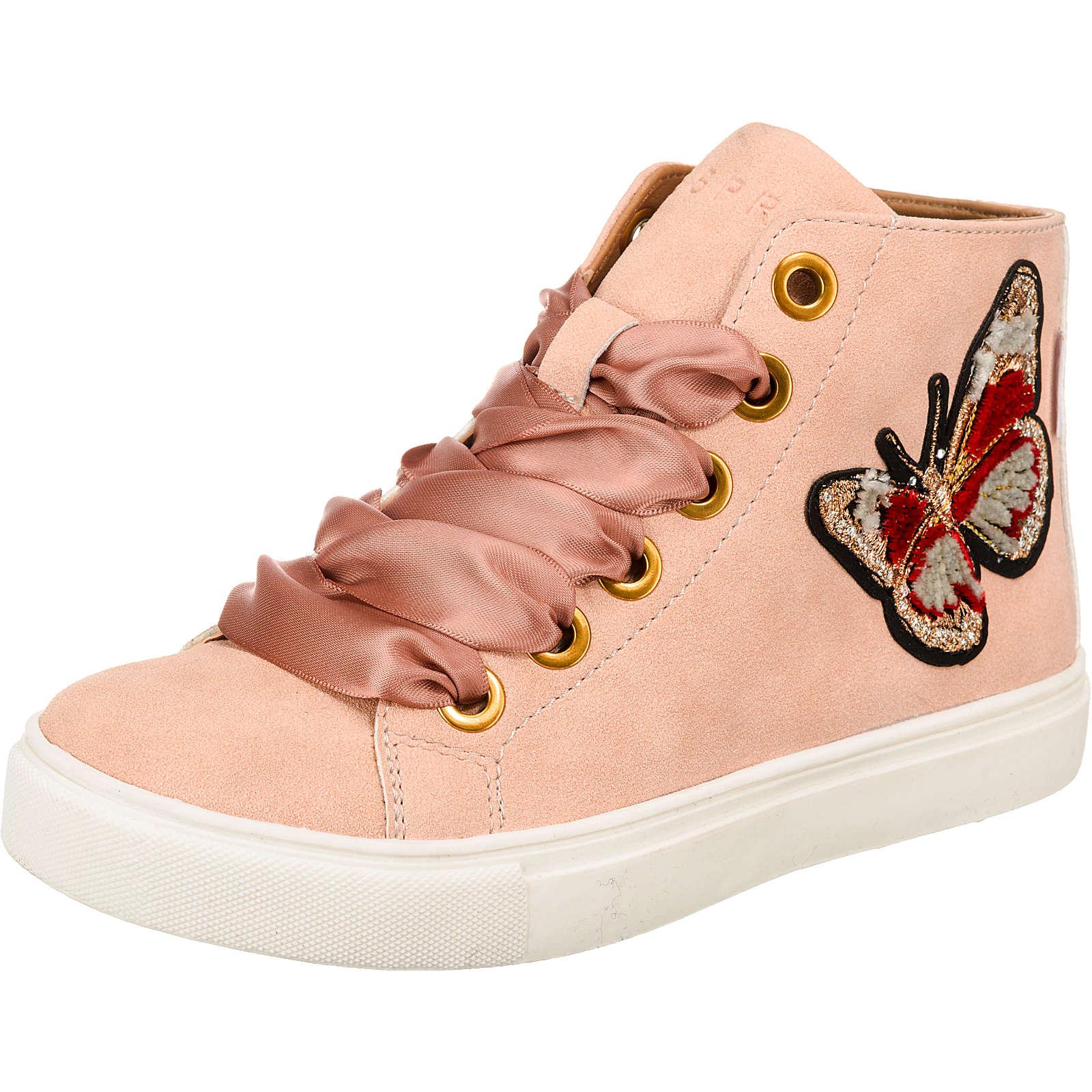 ESPRIT Sneakers High Cherry Butterfly für Mädchen rosa Mädchen Gr. 37