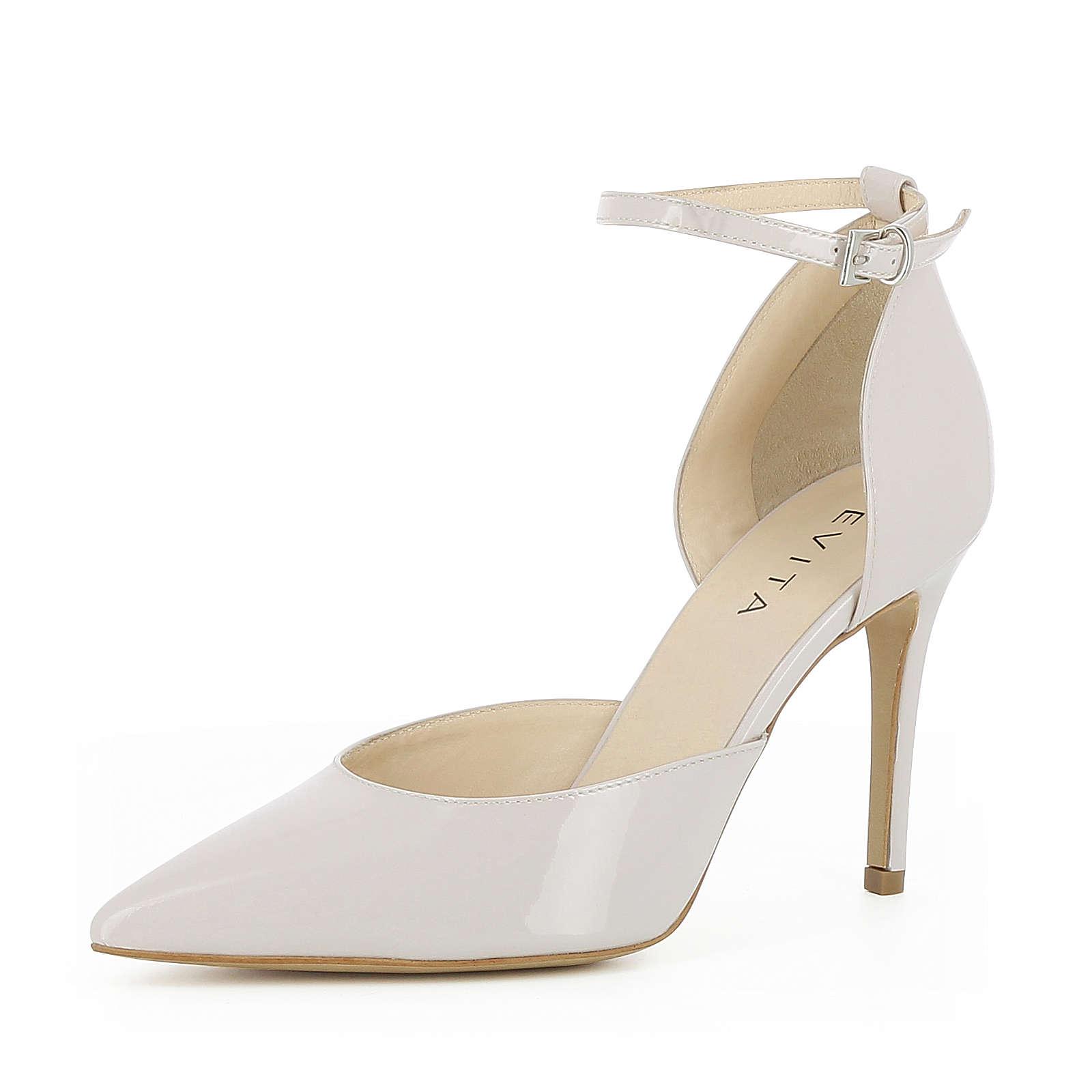Evita Shoes Damen Pumps halboffen EMILIA Klassische Pumps creme Damen Gr. 40