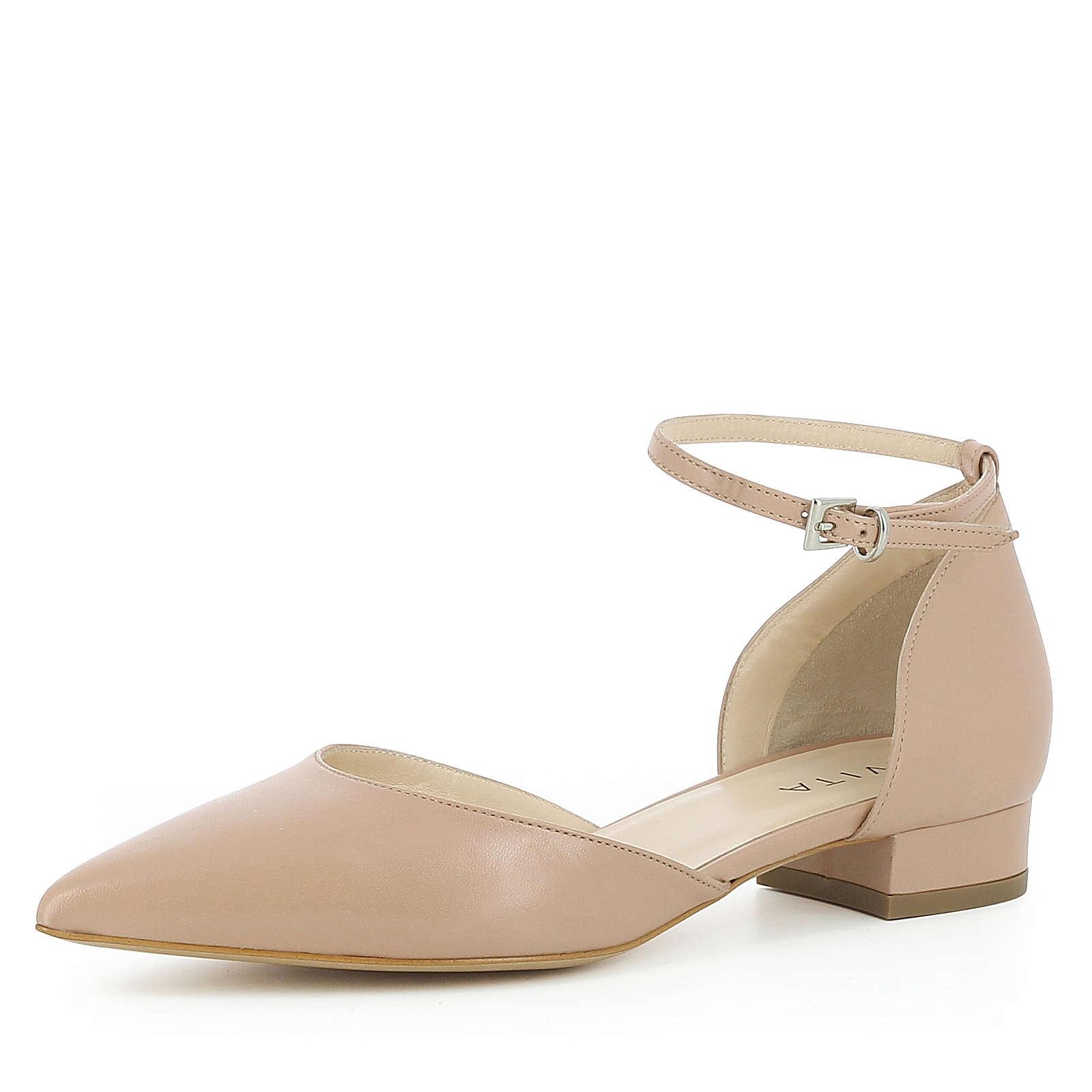 Evita Shoes Damen Pumps halboffen FRANCA Komfort-Pumps nude Damen Gr. 39
