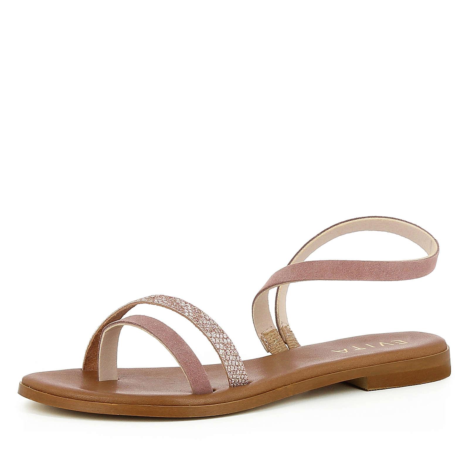 Evita Shoes Damen Sandale OLIMPIA Klassische Sandalen altrosa Damen Gr. 36