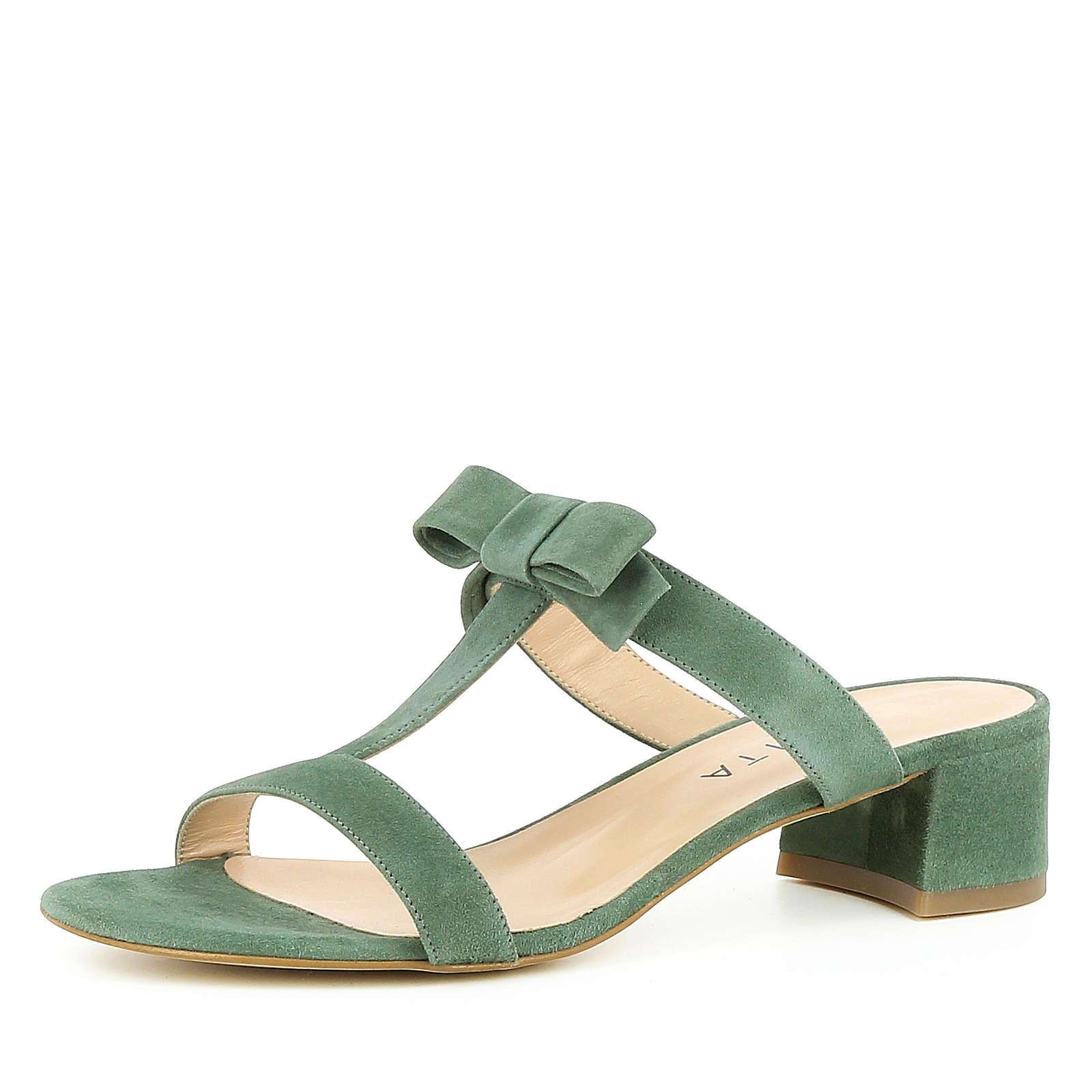 Evita Shoes Damen Sandalette DARIA Klassische Sandaletten natur/oliv Damen Gr. 40