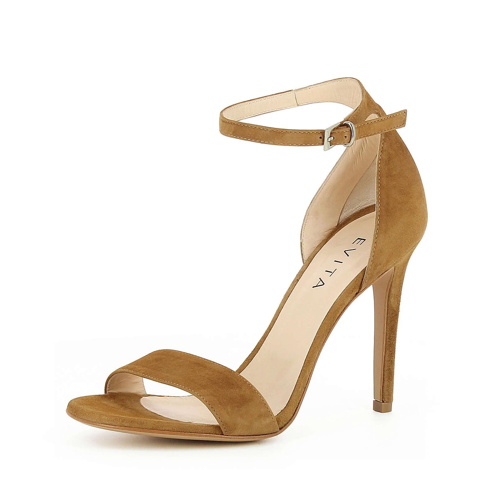 Evita Shoes Damen Sandalette EVA Klassische Sandaletten cognac Damen Gr. 34