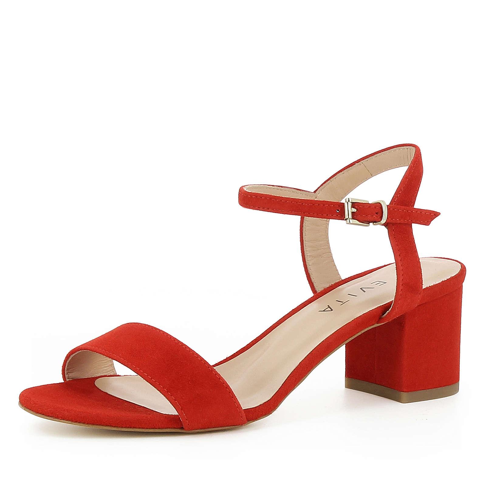 Evita Shoes Damen Sandalette MARIELLA Klassische Sandaletten rot Damen Gr. 41