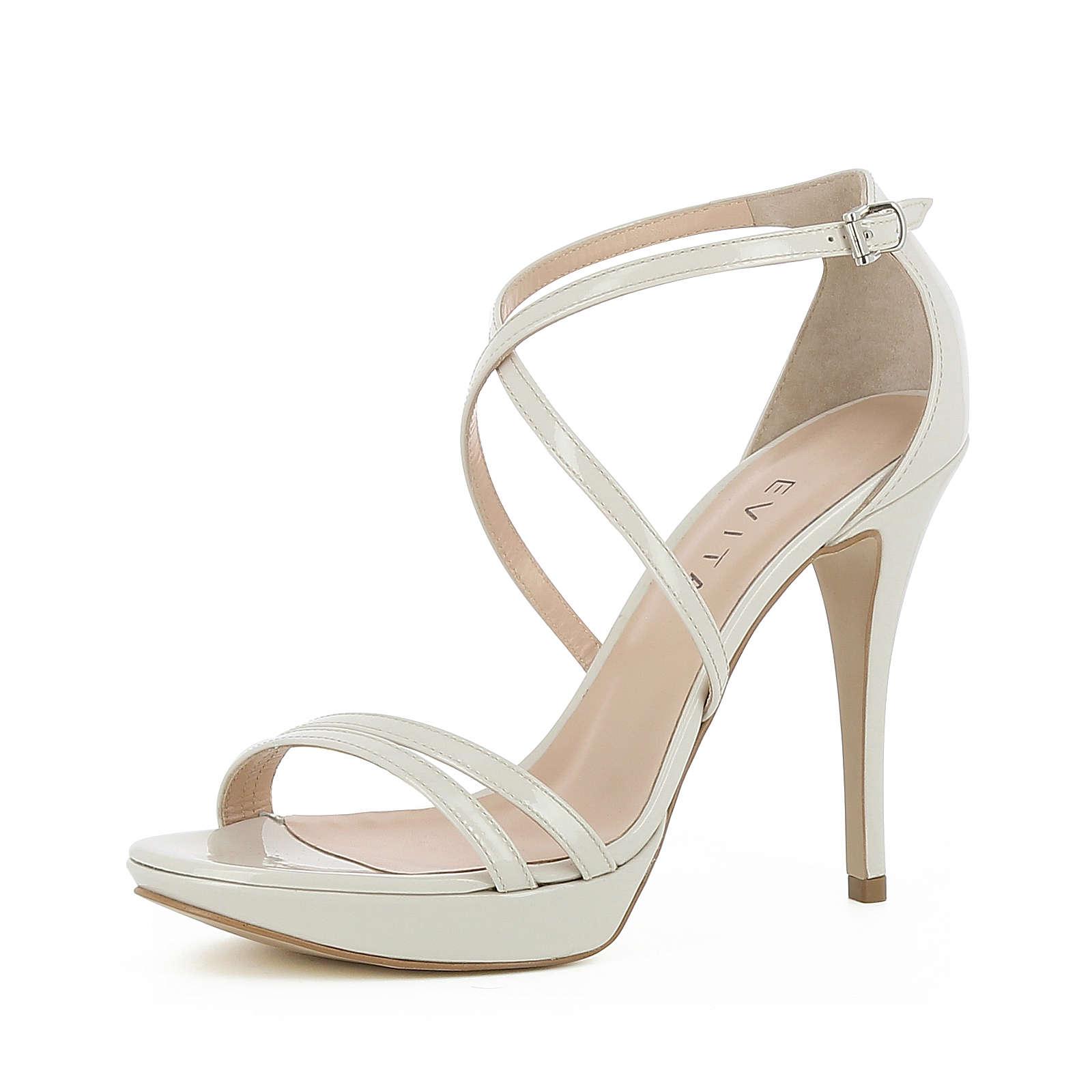 Evita Shoes Damen Sandalette VALERIA Klassische Sandaletten beige Damen Gr. 34