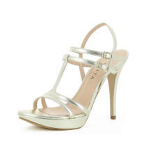 Evita Shoes Damen Sandalette VALERIA Klassische Sandaletten gold Damen Gr. 34