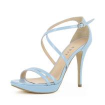 Evita Shoes Damen Sandalette VALERIA Klassische Sandaletten hellblau Damen Gr. 34