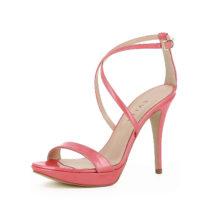 Evita Shoes Damen Sandalette VALERIA Klassische Sandaletten koralle Damen Gr. 34