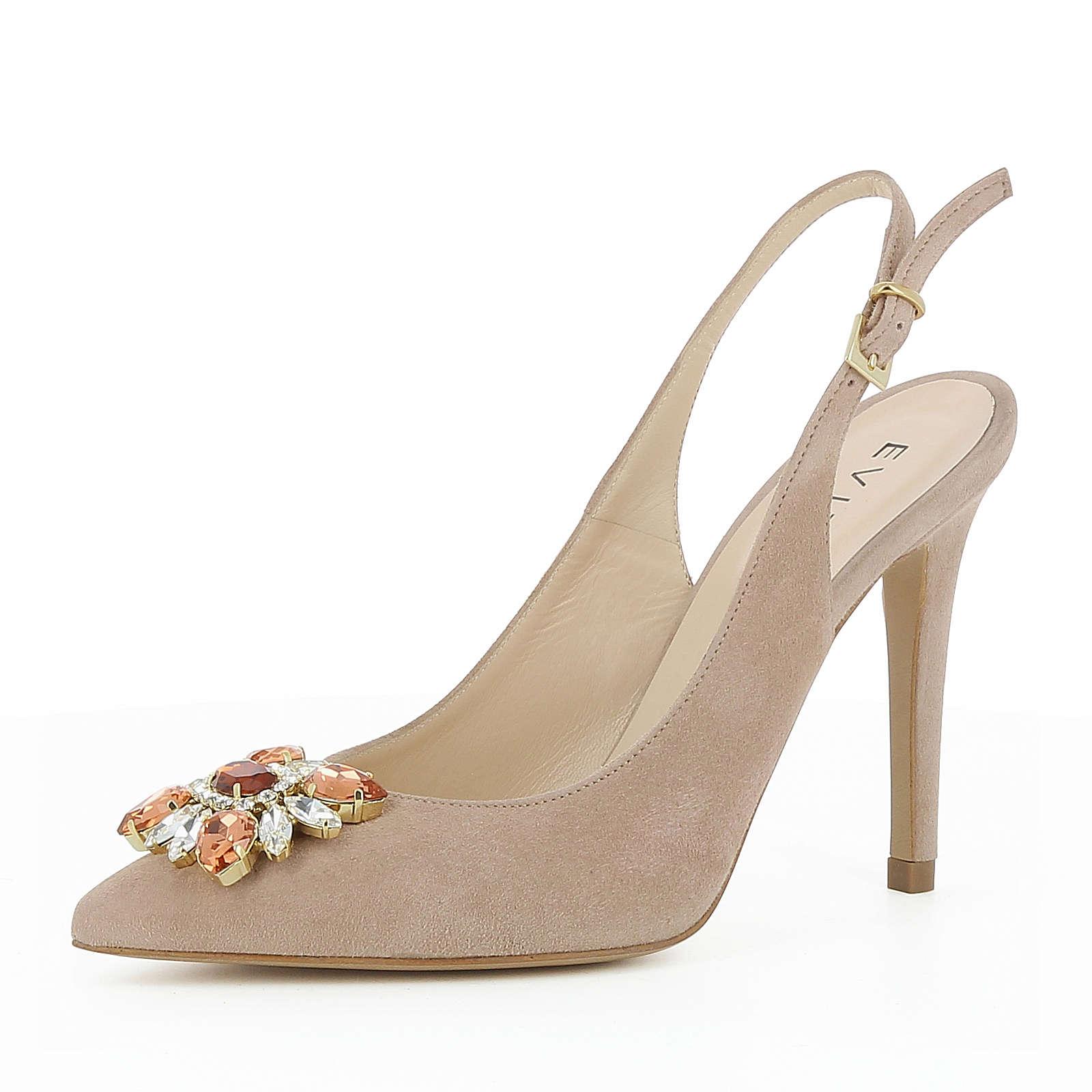 Evita Shoes Damen Sling Pumps ALINA Sling-Pumps altrosa Damen Gr. 34