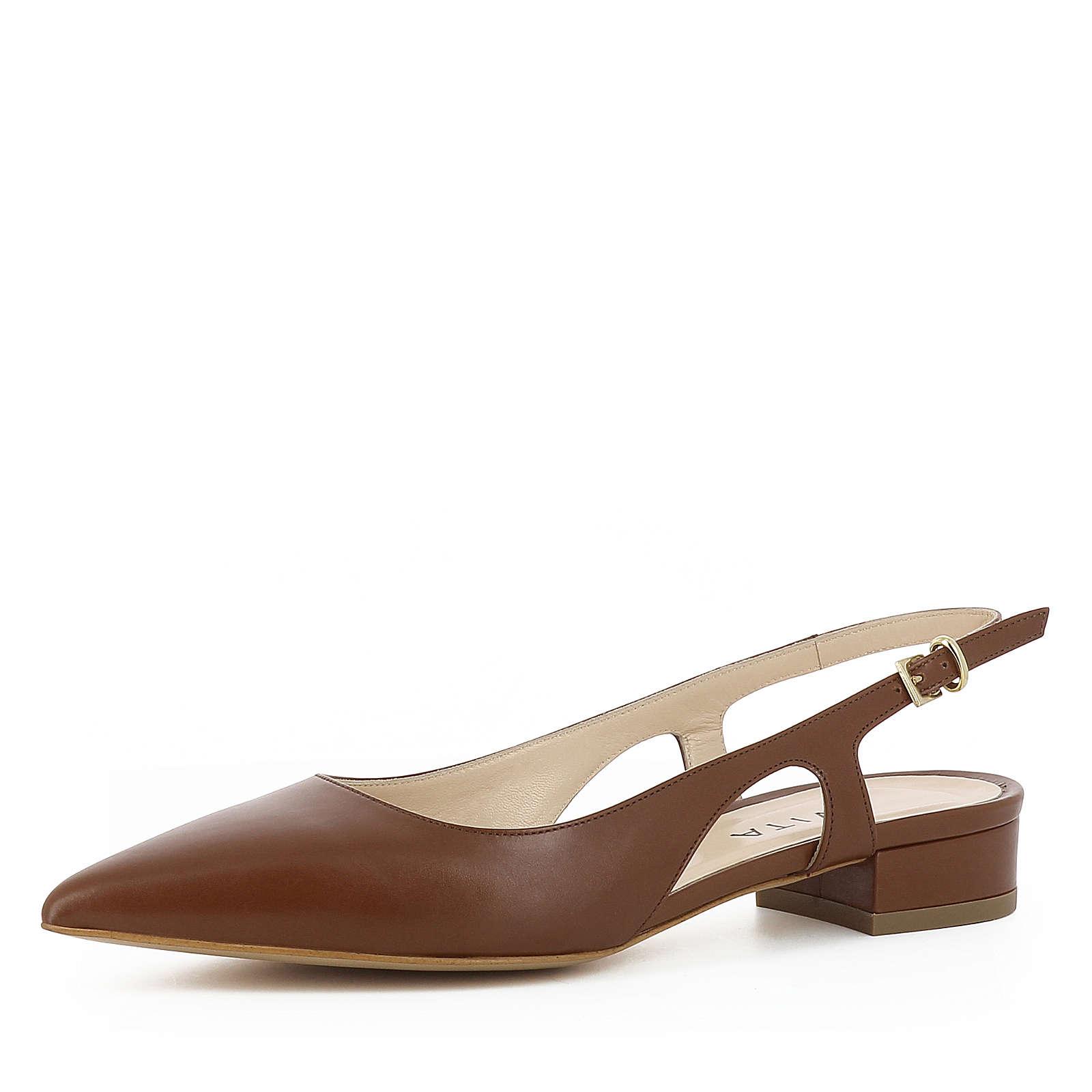 Evita Shoes FRANCA Sling-Pumps braun Damen Gr. 38