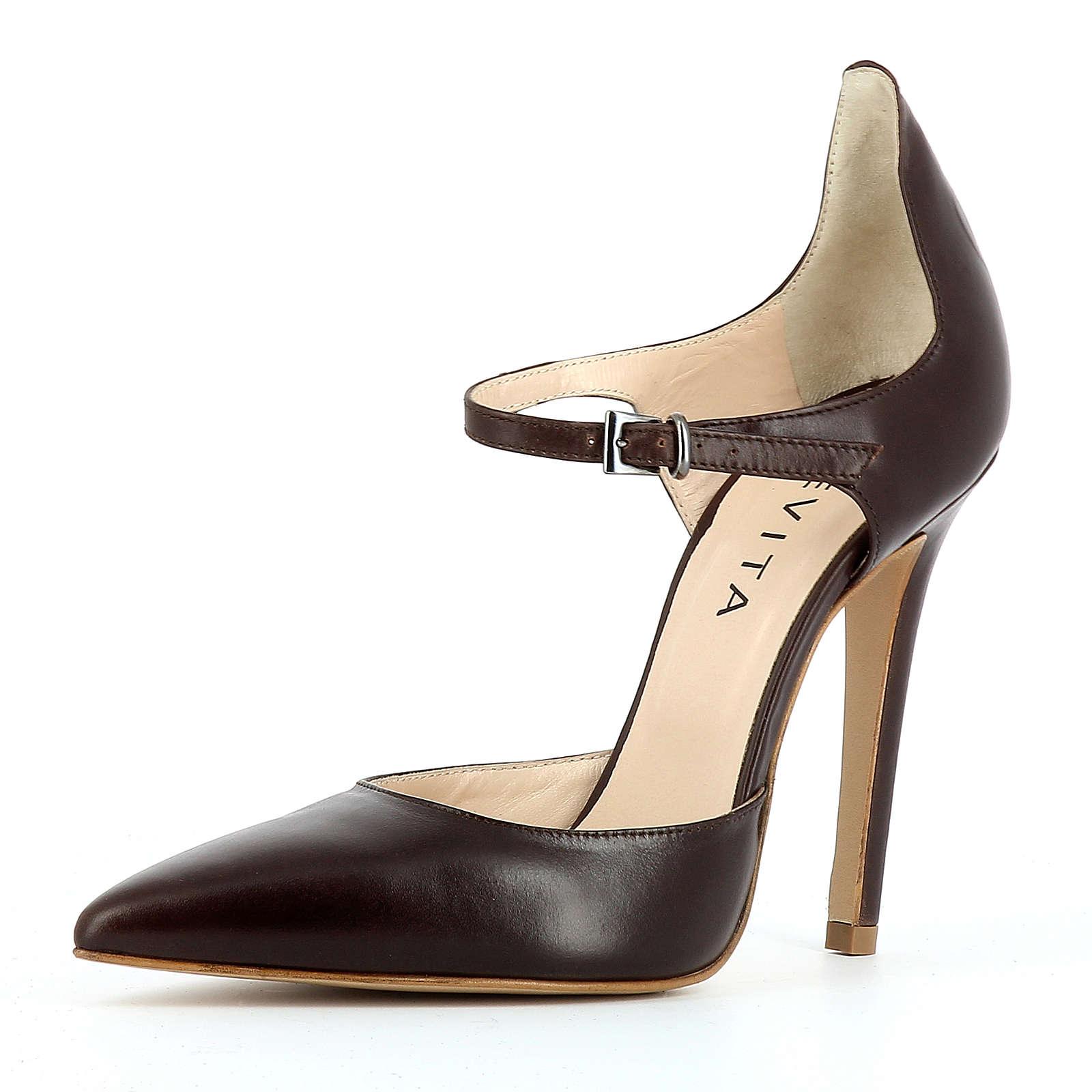 Evita Shoes Pumps dunkelbraun Damen Gr. 41