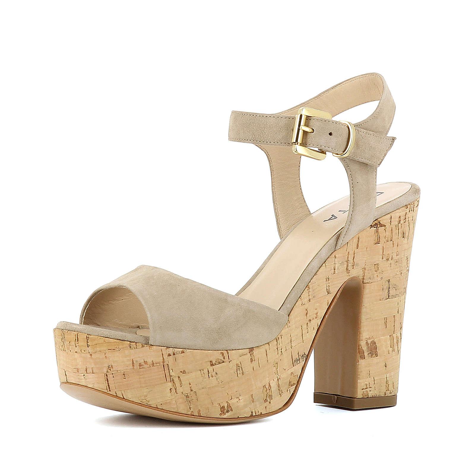 Evita Shoes Sandaletten beige Damen Gr. 38