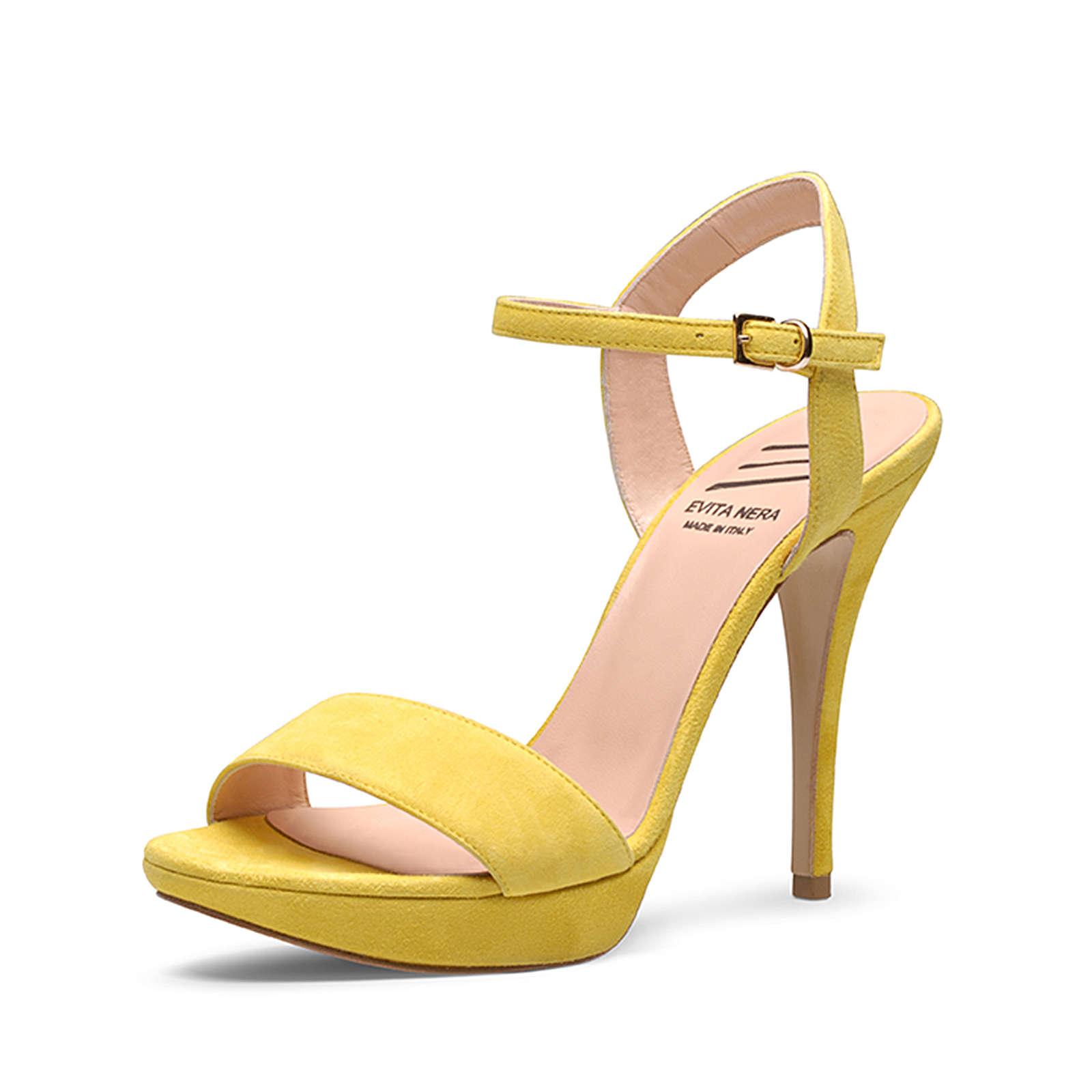 Evita Shoes Sandaletten gelb Damen Gr. 42