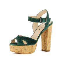 Evita Shoes Sandaletten grün Damen Gr. 42