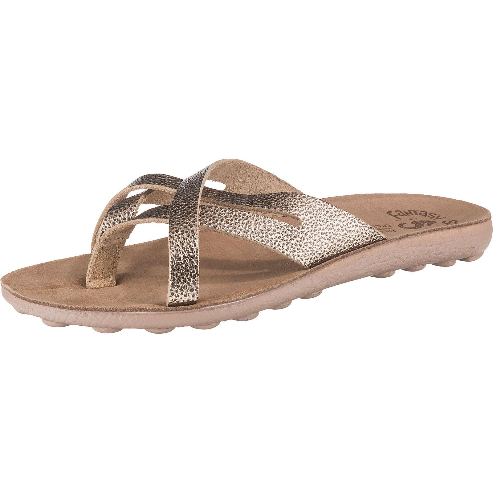 Fantasy Sandals Celeste Komfort-Pantoletten bronze Damen Gr. 38