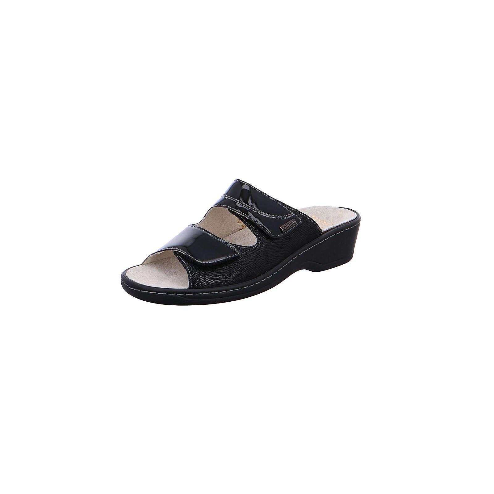 Fidelio Komfort-Pantoletten schwarz Damen Gr. 42