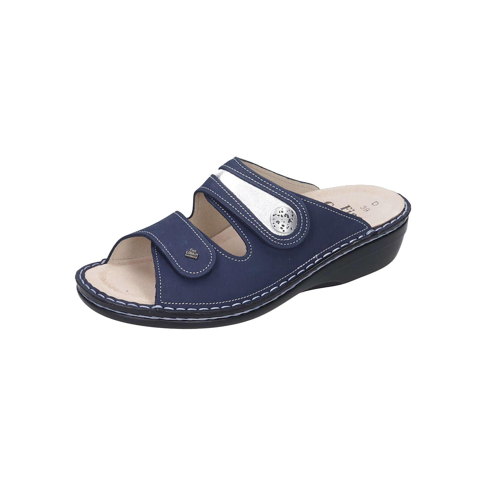 Finn Comfort Damen-Pantolette Komfort-Pantoletten blau Damen Gr. 39