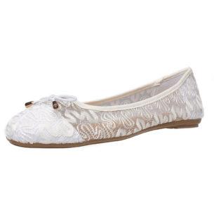 Fitters Footwear Ballerina Tina in weiß weiß Damen Gr. 42