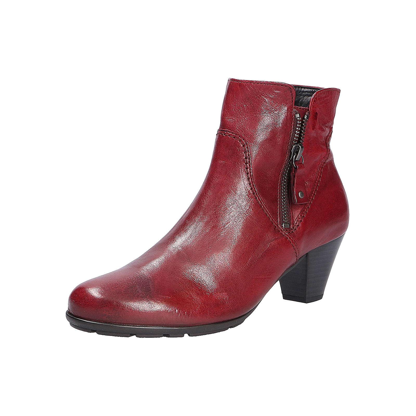 Gabor Fashion Stiefelette Klassische Stiefeletten rot Damen Gr. 37,5