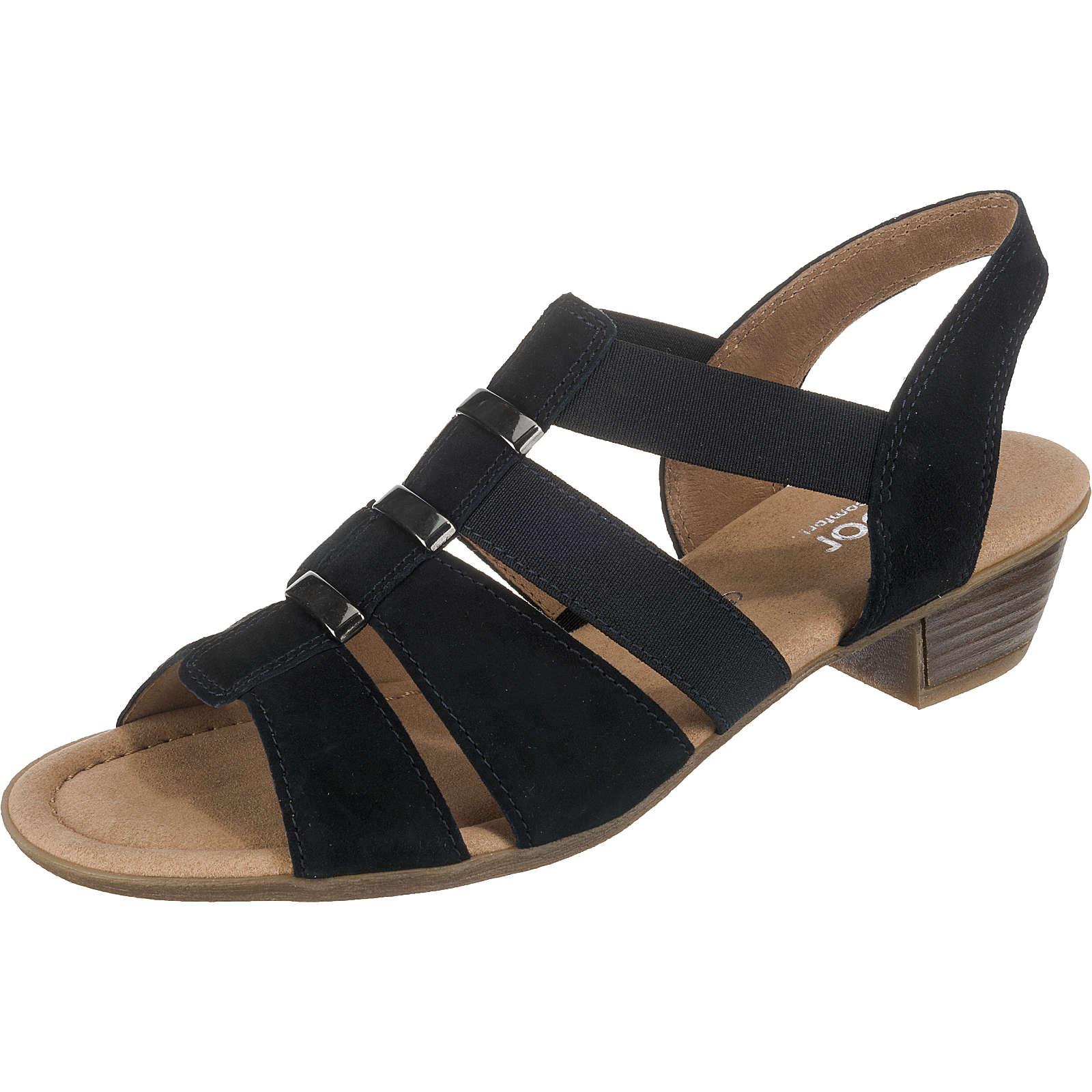 Gabor Klassische Sandaletten blau Damen Gr. 38,5
