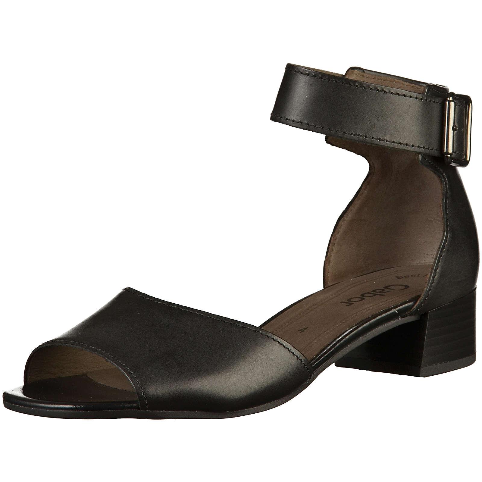 Gabor Klassische Sandaletten schwarz Damen Gr. 38,5