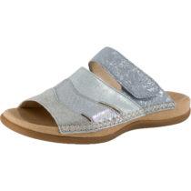Gabor Komfort-Pantoletten silber Damen Gr. 40
